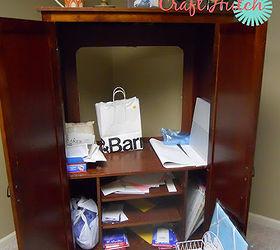 Craft Hutch Tv Cabinet Repurpose Redo, Craft Rooms, Organizing, Repurposing  Upcycling, Old