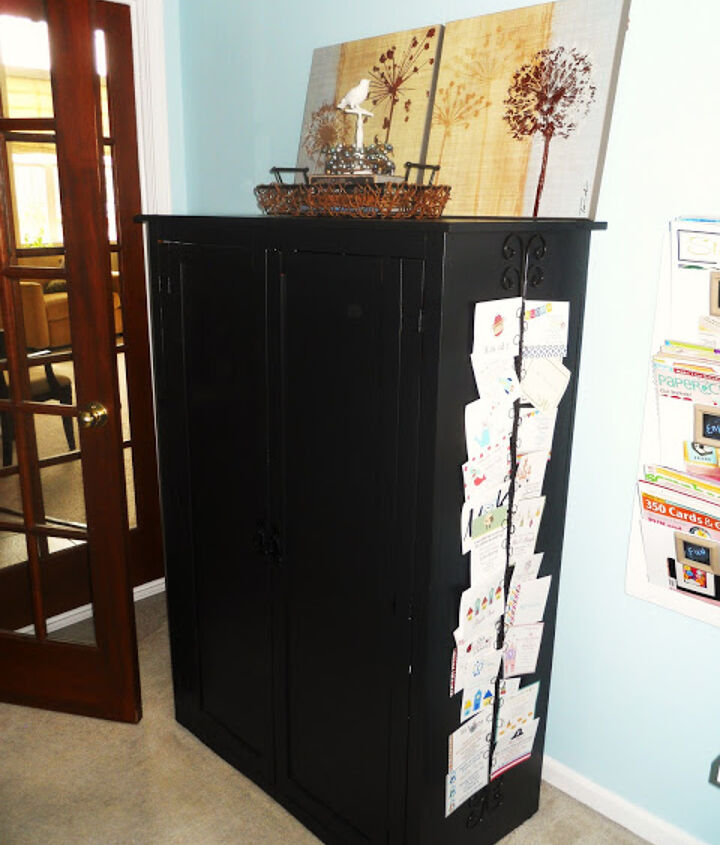 craft hutch tv cabinet repurpose redo, craft rooms, organizing, repurposing upcycling