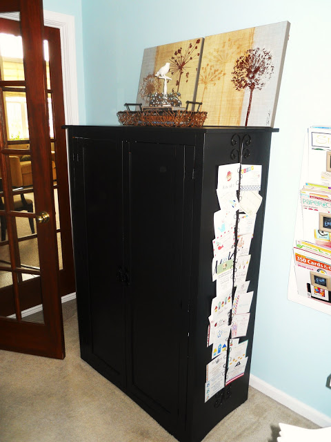 craft hutch tv cabinet repurpose redo, craft rooms, organizing, repurposing upcycling