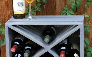 wood crate wine rack upcycle, repurposing upcycling, woodworking projects