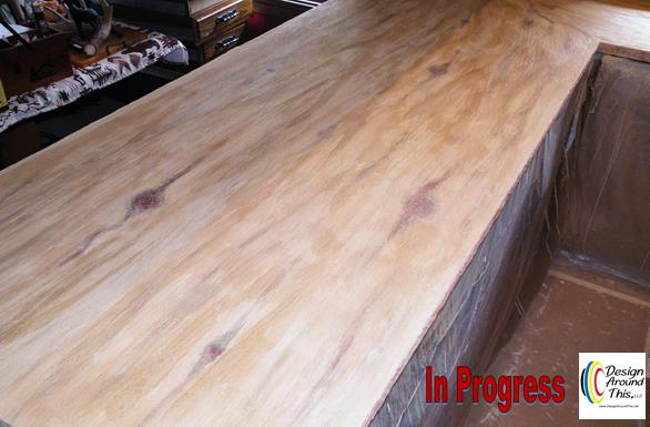 kitchen counters granicrete faux finish install, countertops, diy, kitchen design, woodworking projects