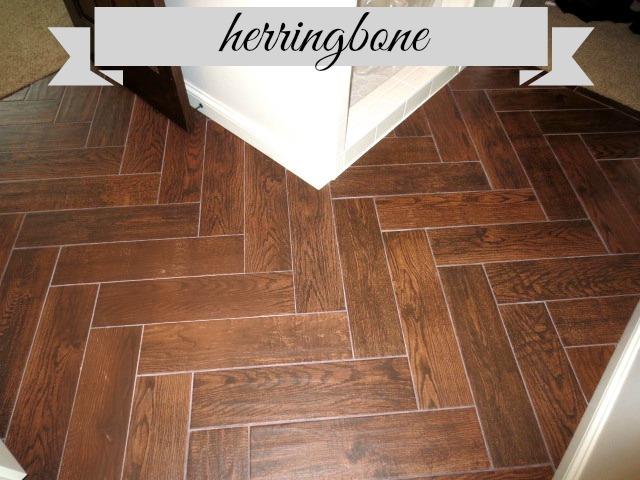 Diy Herring Bone Tile Flooring Hometalk