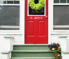 front door makeover, curb appeal, doors, painting
