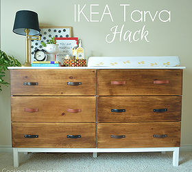 Diy ikea tarva Dresser Makeover Ikea Hack Tarva Dresser Painted Furniture Repurposing Upcycling Hometalk Ikea Tarva Dresser Hack Hometalk