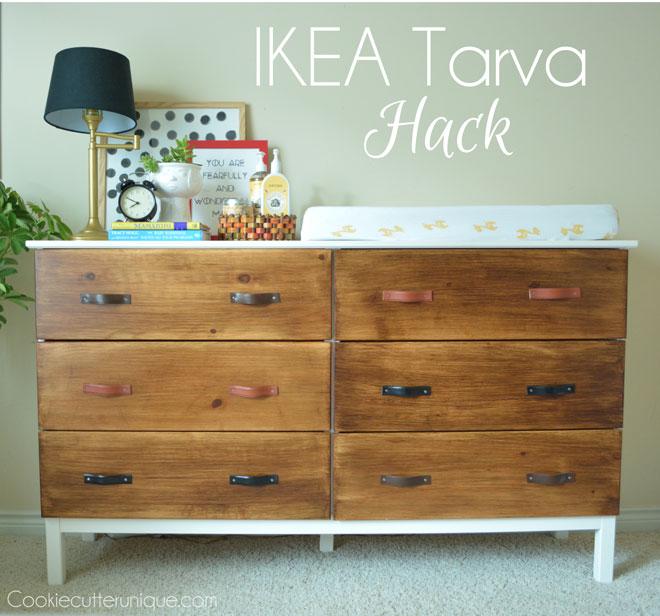 ikea tarva dresser hack hometalk. Black Bedroom Furniture Sets. Home Design Ideas