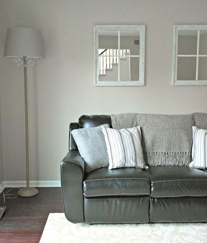 diy framed window mirrors, home decor, living room ideas, repurposing upcycling, wall decor