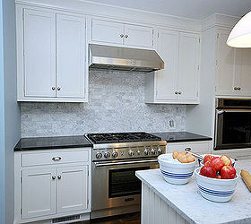 Painted White Kitchen Cabinets For An Elegant Country Kitchen, Appliances,  Countertops, Home Improvement
