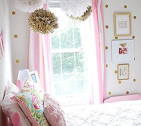 Girls Room in PinkWhiteGold Decor Hometalk