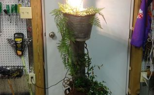 milk can porch light, lighting, repurposing upcycling