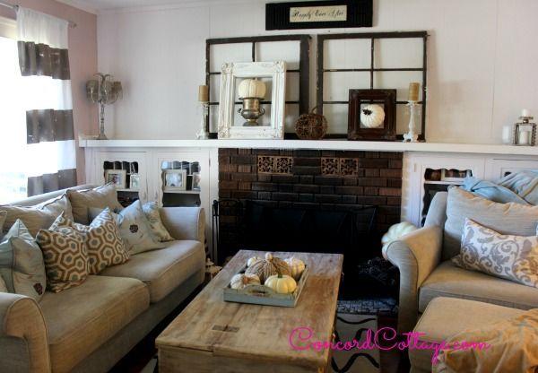 Tis Autumn Living Room Fall Decor Ideas: Our Fall Mantel
