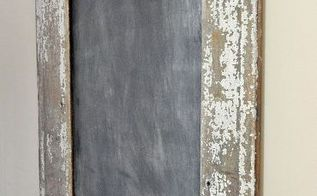 salvaged wood chalkboard, chalkboard paint, repurposing upcycling, woodworking projects