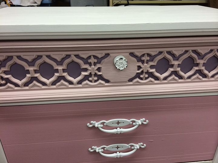 ombre dresser, painted furniture, repurposing upcycling, shabby chic