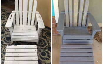 painting stencilling an adirondack chair with milk paint hemp oil, outdoor furniture, painted furniture