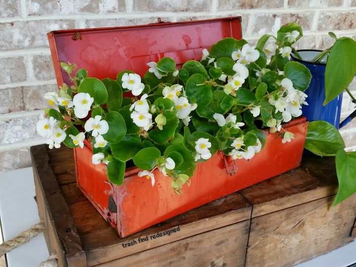 MY OLD RED TOOLBOX FLOWERS