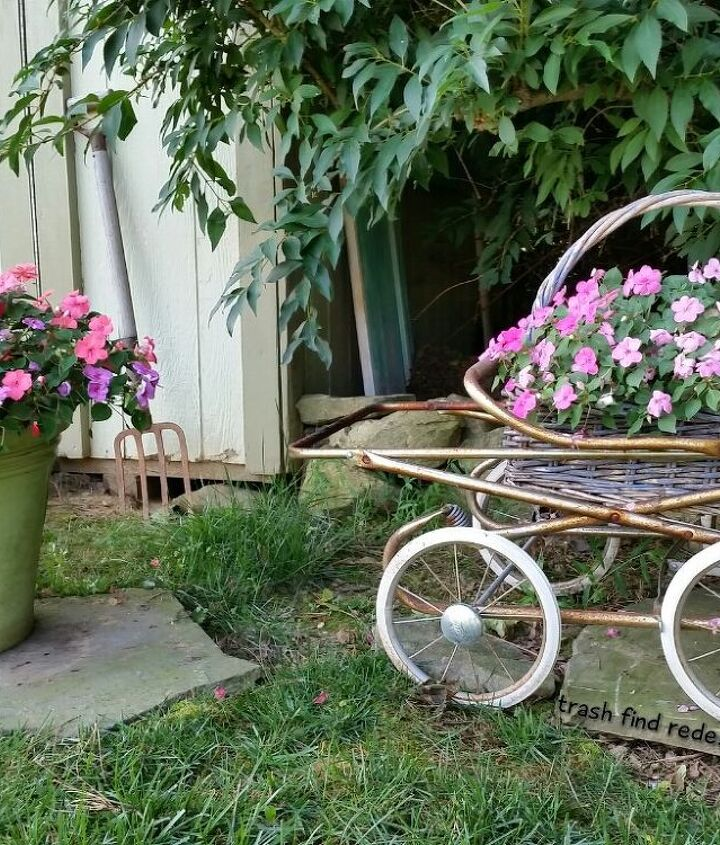 MY VINTAGE BABY CARRIAGE FLOWERS