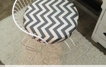 Before & After Vanity Stool Makeover