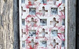swiss inspired scrap wood art, home decor, repurposing upcycling, wall decor, woodworking projects