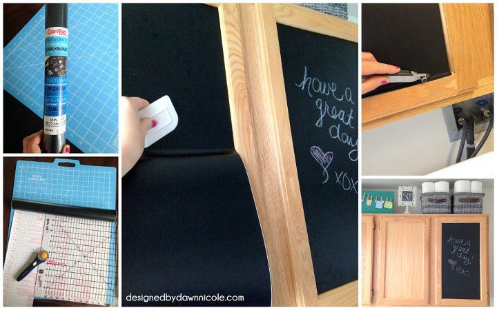 laundry room makeover a renter friendly cabinet makeover, chalkboard paint, kitchen cabinets, laundry rooms, wall decor