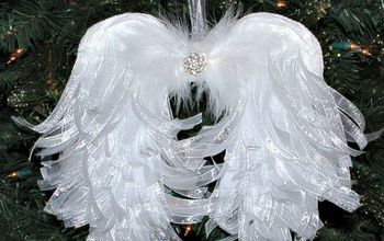 DIY Angelic Organdy Ribbon Angel Wings