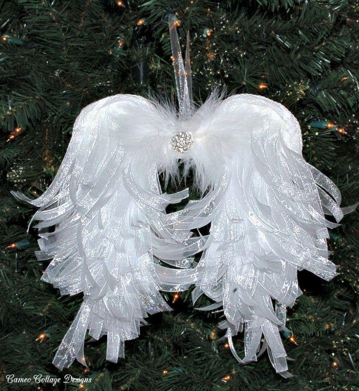 DIY Angelic Organdy Ribbon Angel Wings