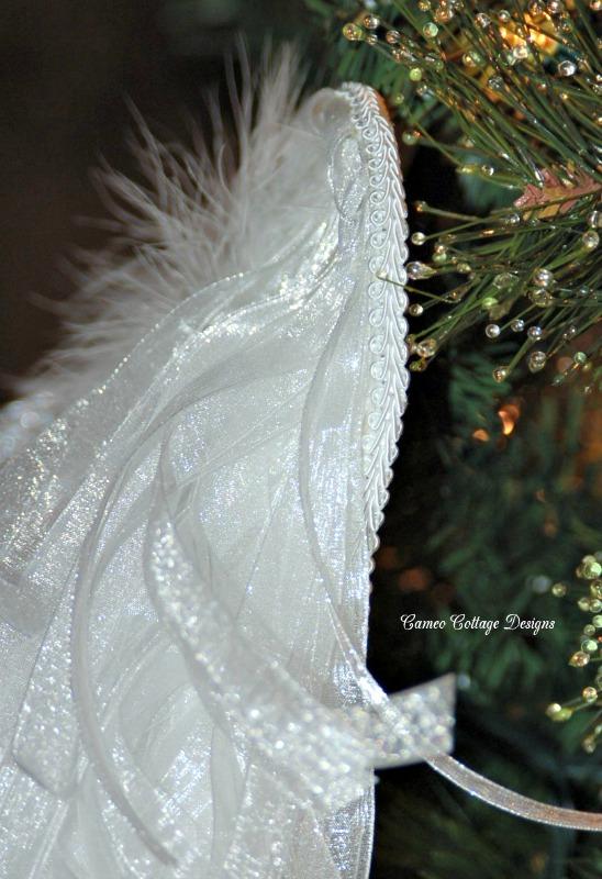 diy angelic organdy ribbon angel wings, christmas decorations, crafts, diy, seasonal holiday decor