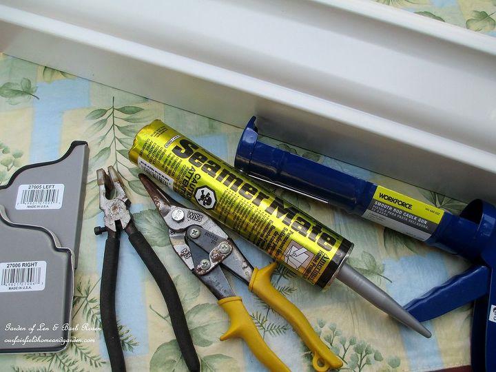 Materials needed for the windowsill windowbox