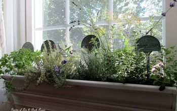 diy windowsill windowboxes from gutters, container gardening, diy, gardening, repurposing upcycling, Fits right on the windowsill
