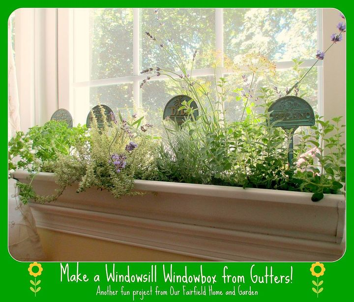 diy windowsill windowboxes from gutters, container gardening, diy, gardening, repurposing upcycling