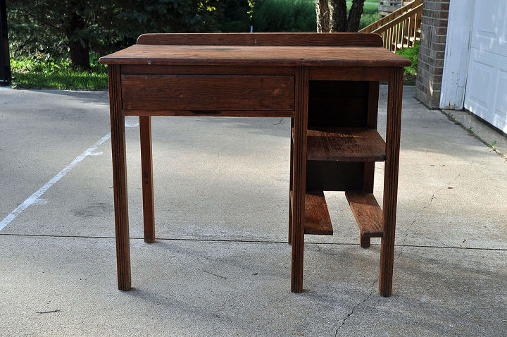 student desk for my niece, painted furniture, repurposing upcycling