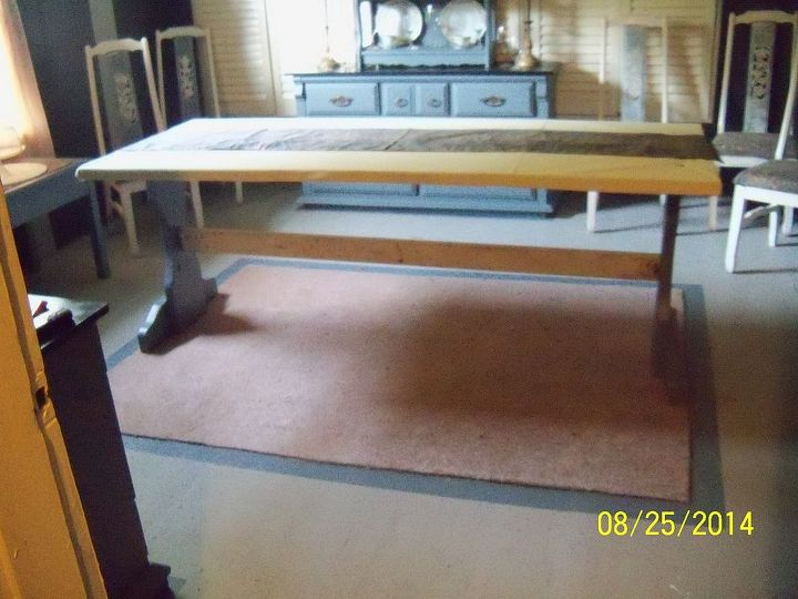 my new dining table made from a shipping crate free, diy, painted furniture, repurposing upcycling, woodworking projects