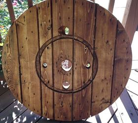 Diy Large Wall Clock From A Cable Spool Hometalk