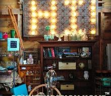 rusty bedsprings marquee lights, diy, lighting, outdoor living, repurposing upcycling