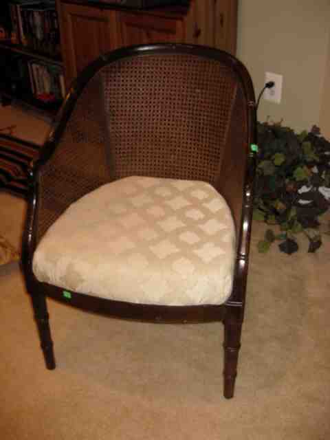 a welcomed chair makeover, painted furniture, reupholster, This is how it started