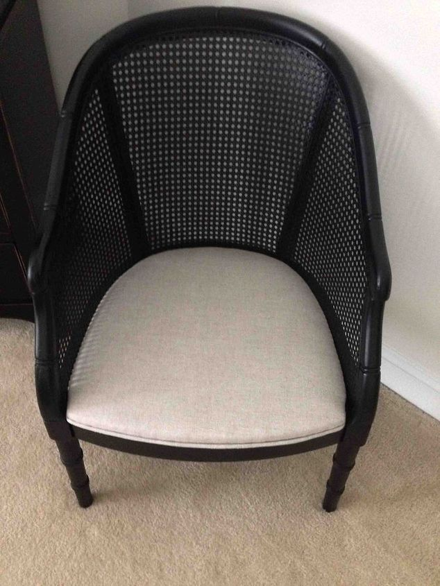 a welcomed chair makeover, painted furniture, reupholster