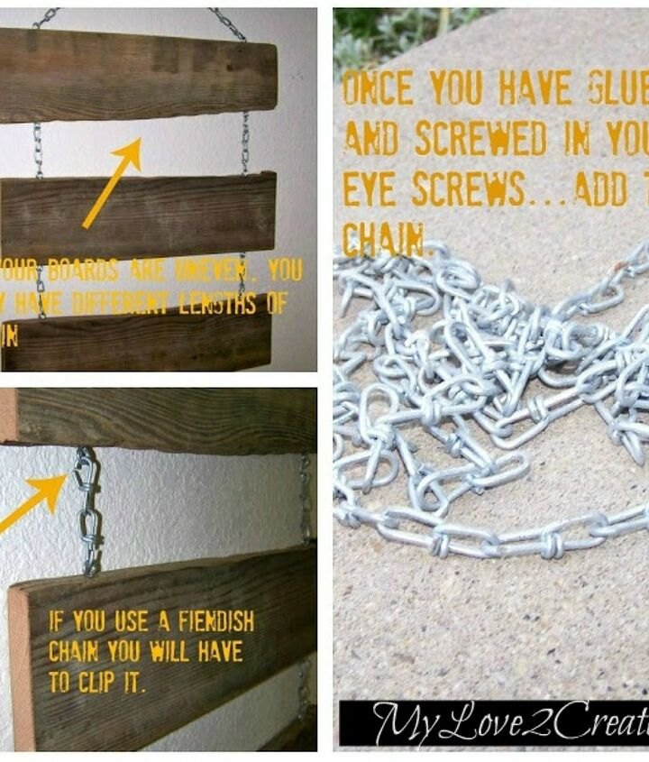 used old wood ink transfer and chain to made a spooky halloween sign the kids, halloween decorations, seasonal holiday decor, woodworking projects