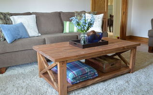 diy coffee table for around 100, diy, home decor, painted furniture, woodworking projects