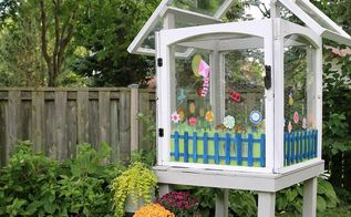 gardening mini greenhouse salvaged windows project, gardening, how to, repurposing upcycling