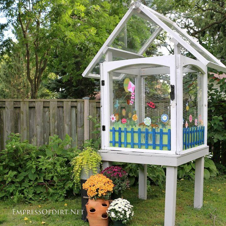 gardening mini greenhouse salvaged windows project, gardening, how to, repurposing upcycling