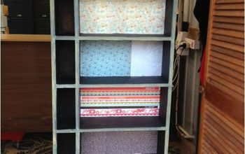 transforming an ordinary wood bookcase with milk paint, decoupage, painted furniture, repurposing upcycling, All done