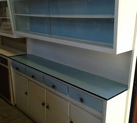 Upcycling A Vintage Kitchen Hutch With Chalk Paint, Chalk Paint, Craft  Rooms, Decoupage
