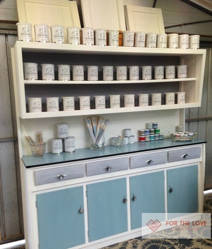 image vintage kitchen craft ideas. Upcycling A Vintage Kitchen Hutch With Chalk Paint, Craft Rooms, Decoupage Image Ideas L