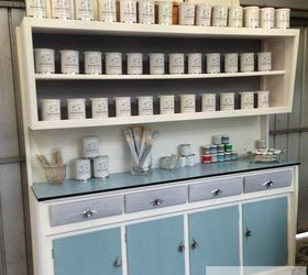 Upcycling A Vintage Kitchen Hutch With Chalk Paint, Chalk Paint, Craft  Rooms, ...