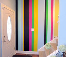 painting vertical stripes, foyer, home decor, paint colors, painting