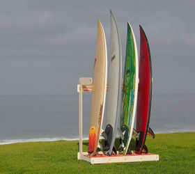 Surfboard Rack For Four Boards, Diy, Storage Ideas, Woodworking Projects