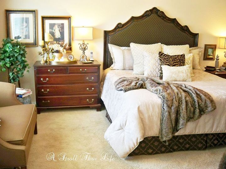 cozy and warm master bedroom, bedroom ideas, home decor, reupholster