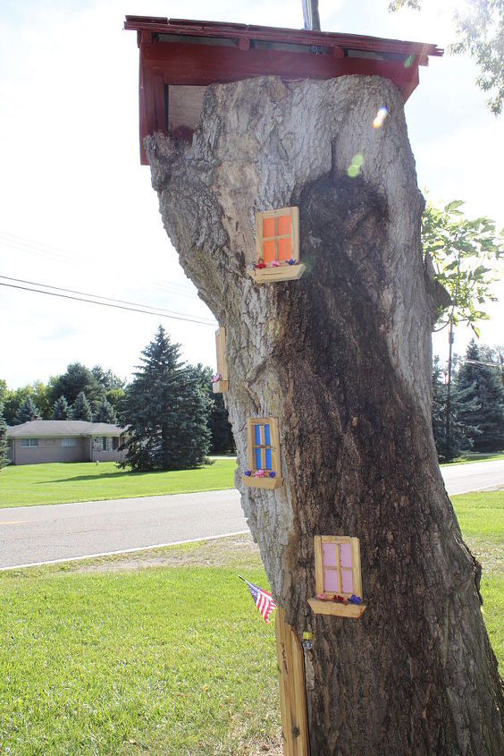 fairy tree, gardening, repurposing upcycling