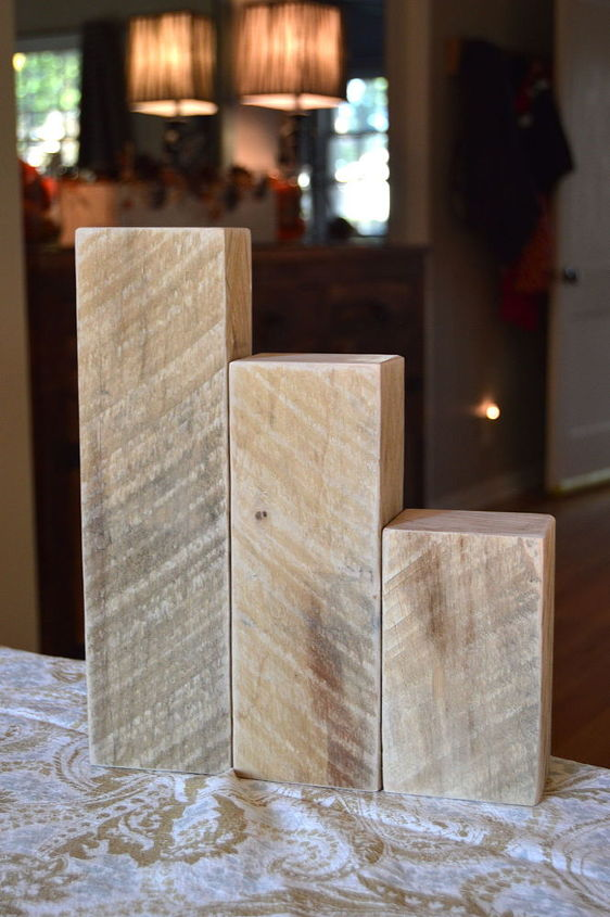 Wood Block Pumpkins Crafts Home Decor Woodworking Projects