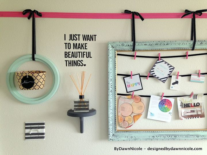 diy vintage frame gallery wall, craft rooms, home decor, home office, wall decor