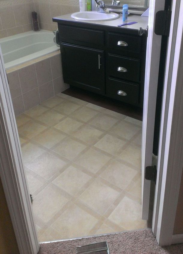 Master Bath Makeover New Floors And Paint Hometalk