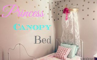 princess canopy, bedroom ideas, reupholster, wall decor